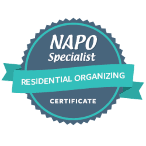 NAPO Specialist Certificate – Residential Organizing issued by NAPO to Miriam Ortiz y Pino