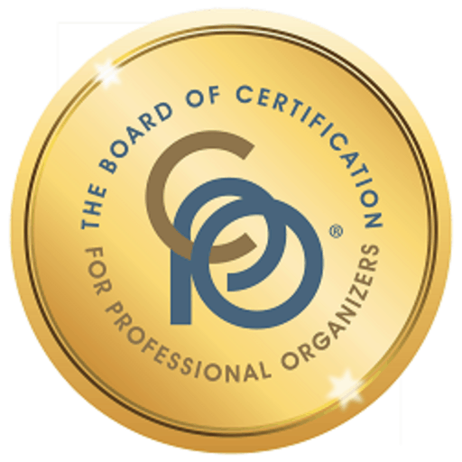 certified professional organizer certification badge for Miriam Ortiz y Pino